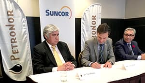 Suncor purchases a 41% equity interest in PetroNor, a petroleum products distributor across the James Bay and Abitibi-Témiscamingue regions of Quebec.