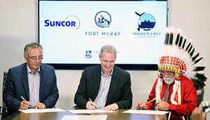 Fort McKay First Nation (FMFN) and Mikisew Cree First Nation (MCFN) complete the acquisition of a 49% partnership in Suncor's East Tank Farm Development.