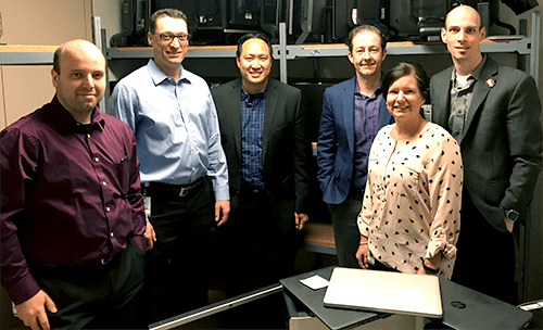 Members of Suncor's Information & Process Management team. From left: Andrew De Angelis, Derek Burgess, Sareno Hang, Sean Parkinson, Lisa Canning, and Marc Slater.