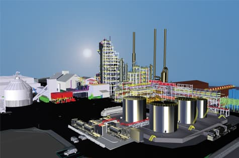 Quebec Biofuel plant rendered image