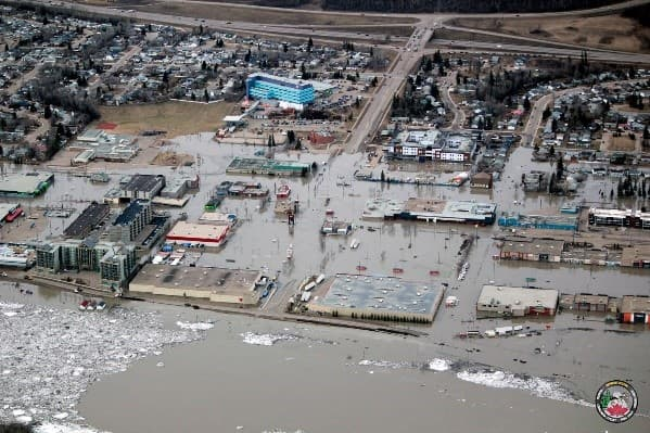Parts of downtown Fort McMurray suffered significant flood in the spring of 2020.